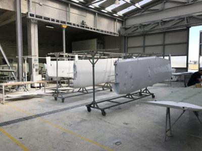 Fábrica de Tecnam en Italia